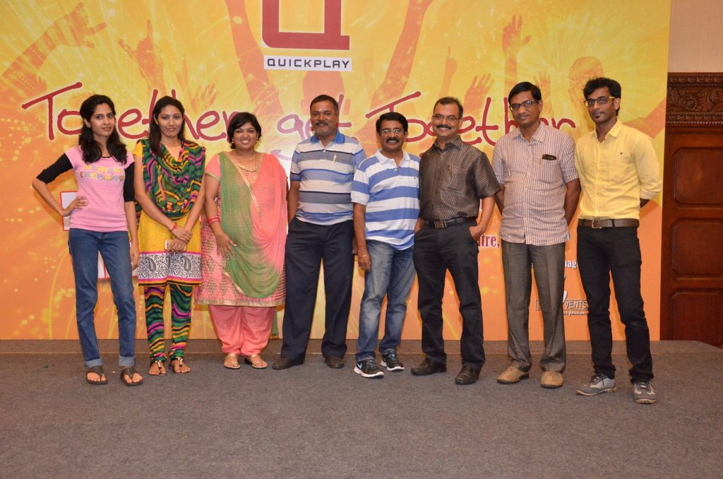 Chennai Entertainers Thamizharasan and nandhini at GRT for Quick Play Media