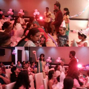 Chennai Event Emcees Nandhini and Thamizharasan hosting Birthday Party