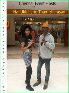 Stage Emcees Thamizharasan and Nandhini - Female and Male MC in Chennai