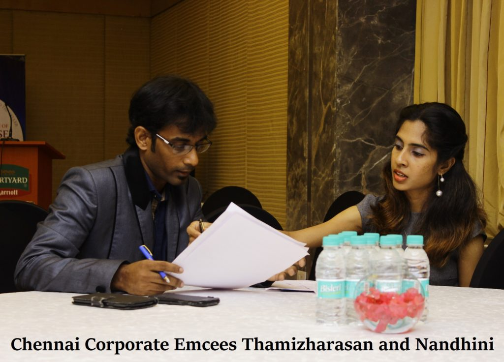 Emcees Thamizharasan and Nandhini - Female and Male MC in Chennai