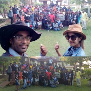 Chennai Event Anchors Nandhini and Thamizharasan hosting Corporate Team Outing