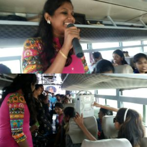 Chennai Event Emcees Nandhini and Thamizharasan hosting Corporate Team Outing