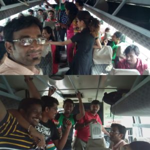 Chennai Event MCs Nandhini and Thamizharasan hosting Corporate Team Outing