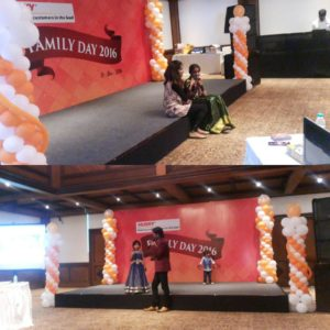 Chennai Event Anchors Nandhini and Thamizharasan hosting Corporate Family Day