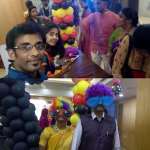 Chennai Stage Emcees Nandhini and Thamizharasan hosting Birthday Party