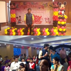 Tamilnadu Event Emcees Nandhini and Thamizharasan hosting Birthday Party