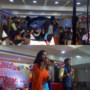Chennai Event MCs Nandhini and Thamizharasan hosting Birthday Party