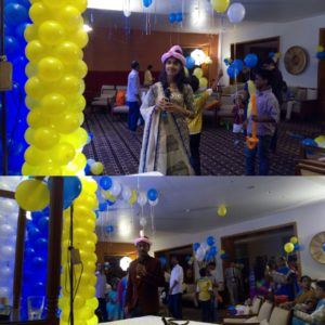 Tamilnadu Entertainers Emcees Nandhini and Thamizharasan at birthday party
