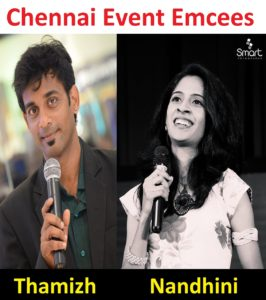 Chennai Event Emcees Thamizharasan and Nandhini Event Enquiry