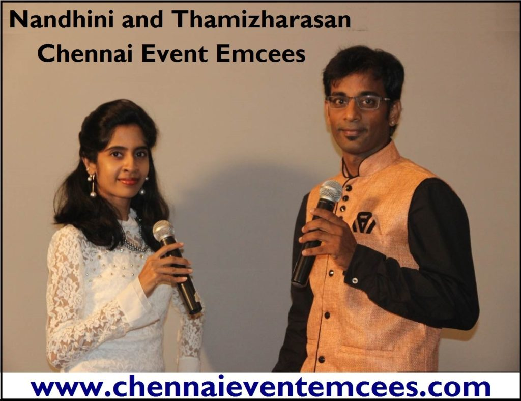 chennai-corporate-event-emcees-nandhini-and-thamizharasan