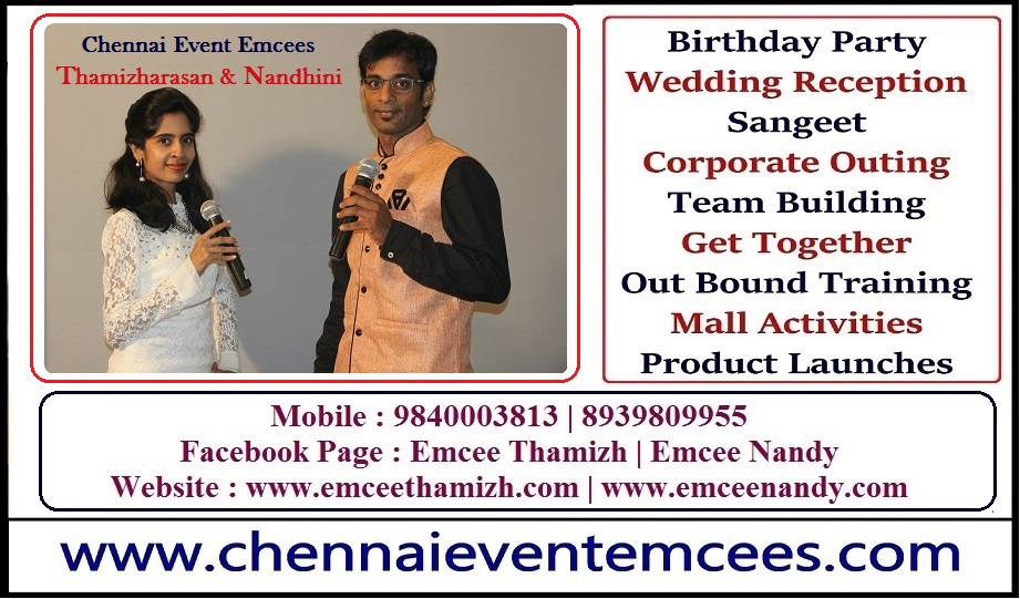 Product Promotions through Mall Activities Chennai Event Emcees Nandhini and Thamizharasan