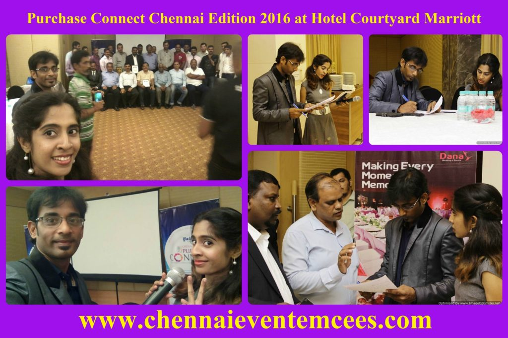 Chennai Event Emcees hosting networking event of Purchase Connect Chennai at Hotel Courtyard Marriott 1