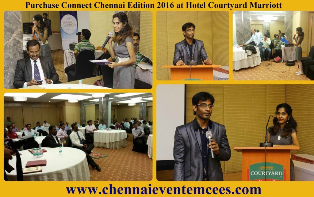 Chennai Event Emcees hosting networking event of Purchase Connect Chennai at Hotel Courtyard Marriott 2