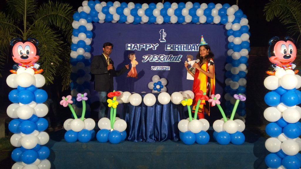 Chennai Event Emcees Thamizharasan and Nandhini at their Birthday Party Event Management at Hudson resorts Sriperumbudur
