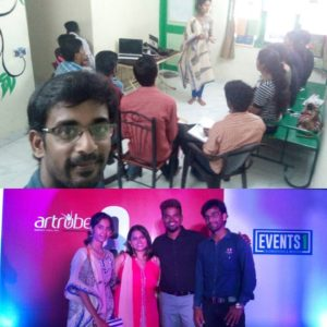 Emcee Training conducted by Chennai Event Emcees Thamizharasan and Nandhini