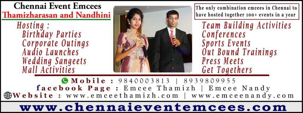 Chennai Event Emcees Thamizh and Nandy about Importance of Training