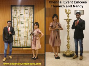 Collaboration with Chennai Event Emcees Thamizh and Nandhini Aravindan