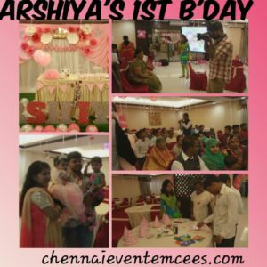 Chennai Birthday Party Event Emcees Thamizharasan and Nandhini