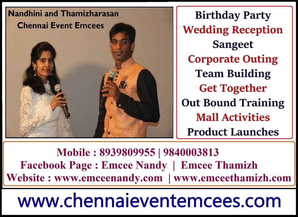 Chennai Birthday Party Event MCs Nandhini and Thamizharasan