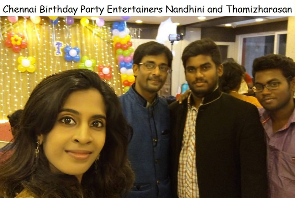 Chennai Birthday Party Event Entertainers Nandhini and Thamizharasan