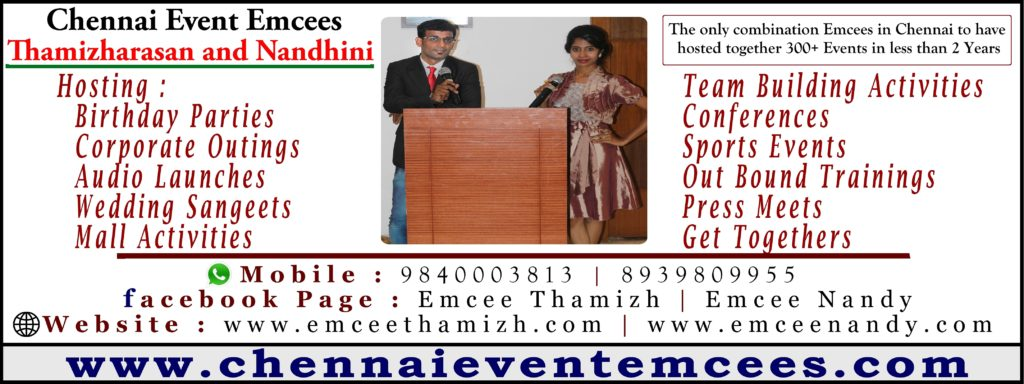 Chennai Event Emcees Thamizharasan and Nandhini about Digital Marketing
