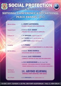 National Conference and SPT National Peace Awards 2017 CEE Thamizharasan and Nandhini with Sri Arvind Kejriwal