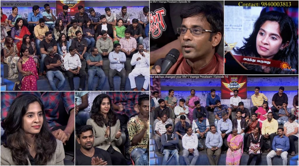 Tamilnadu Event Anchors Thamizharasan and Nandhini in Sun TV Vaanga Pesalaam Talk Show