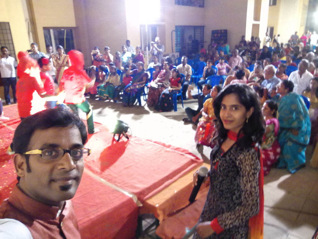 Chennai Event Emcees Thamizharasan and Nandhini Aravindan Hosting Apartments Family Day at Medavakkam
