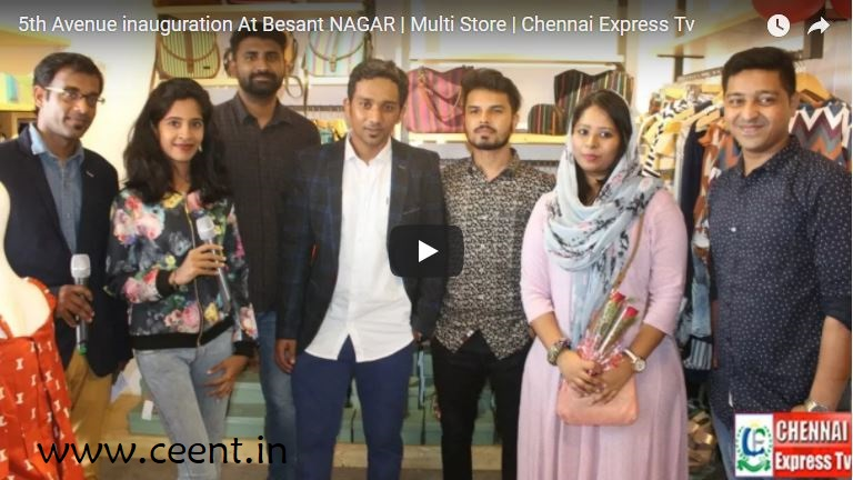 Chennai Event Emcees and Entertainers Nandhini and Thamizharasan at 5th Avenue Multistore Launch Besant Nagar