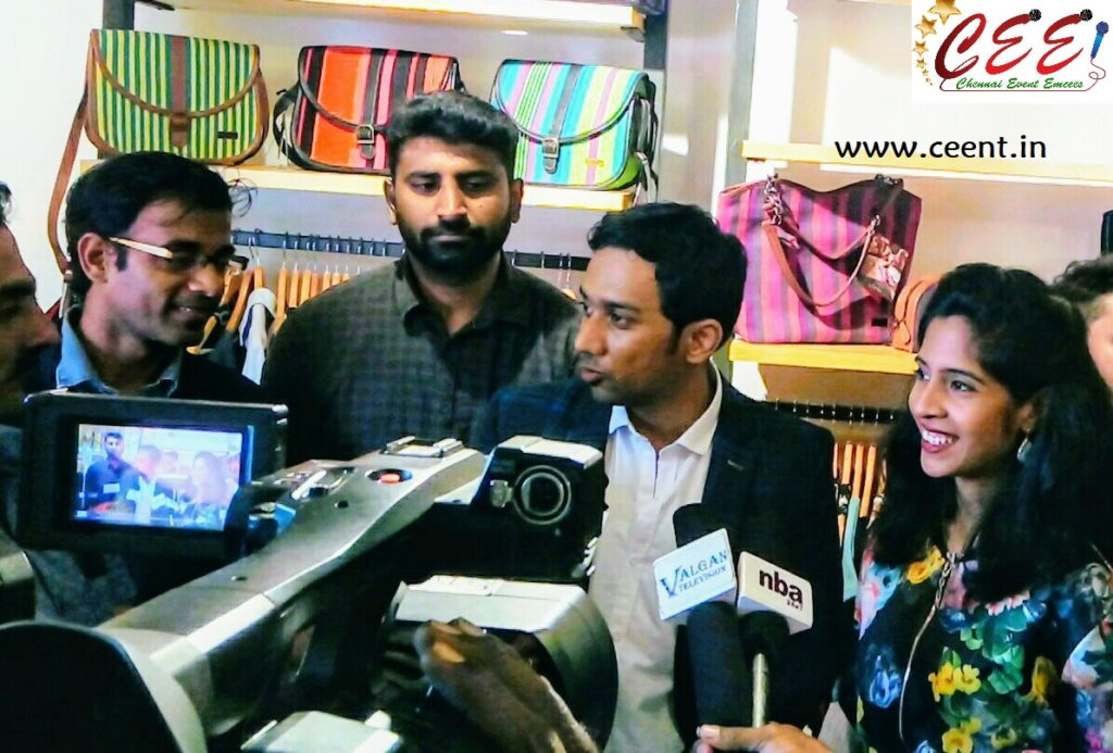 Chennai Event Entertainers and Emcees Nandhini and Thamizharasan at 5th Avenue Multistore Launch Besant Nagar