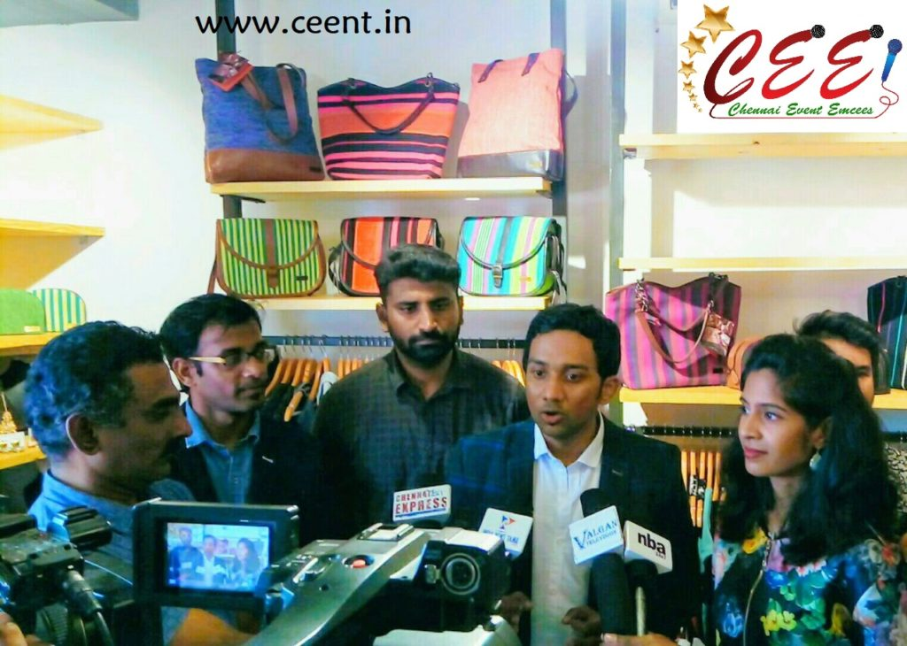 Chennai Event Entertainers and Emcees Nandhini and Thamizharasan at 5th Avenue Multistore Launch Bessie
