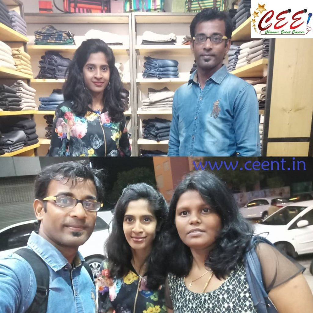 Chennai Event Entertainers and Emcees Nandhini and Thamizharasan at 5th Avenue Multistore Launch Bessie with Eventswalk Priya