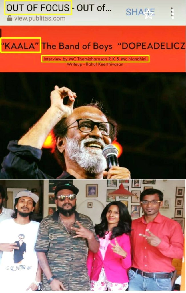 Out of Focus Interview with Kaala Rappers Dopeadelicz Team from Dharavi Chennai Event Acnhors Nandhini and Thamizharasan