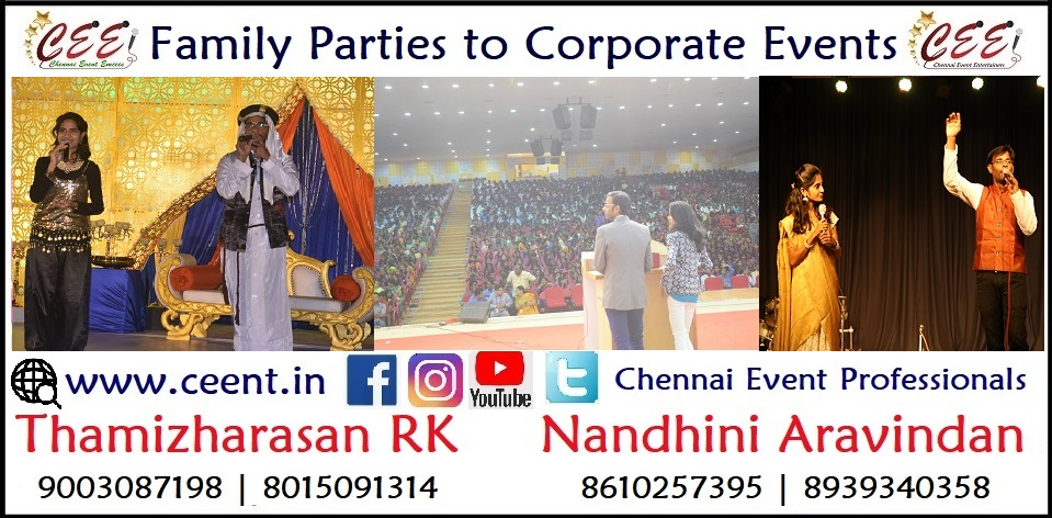Chennai Event Emcees Entertainers Professionals Nandhini and Thamizharasan 4