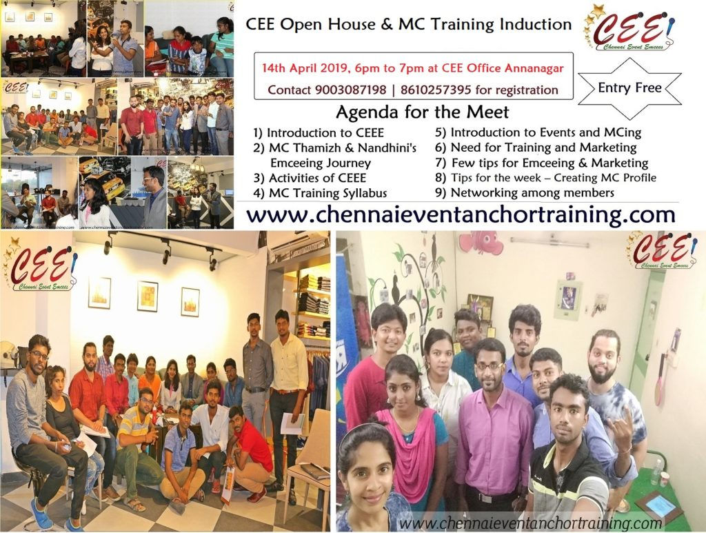 Ivite Copy Chennai Event Emcees CEE Open house and MC Training Induction Program on Tamil New Year Day at Annanagar