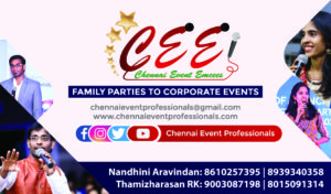 Chennai Event Emcees Business Card Contact Info