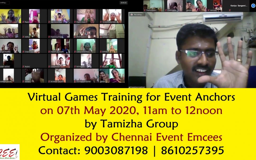 Virtual Games Training for Event Anchors Trainers Entertainers Teachers